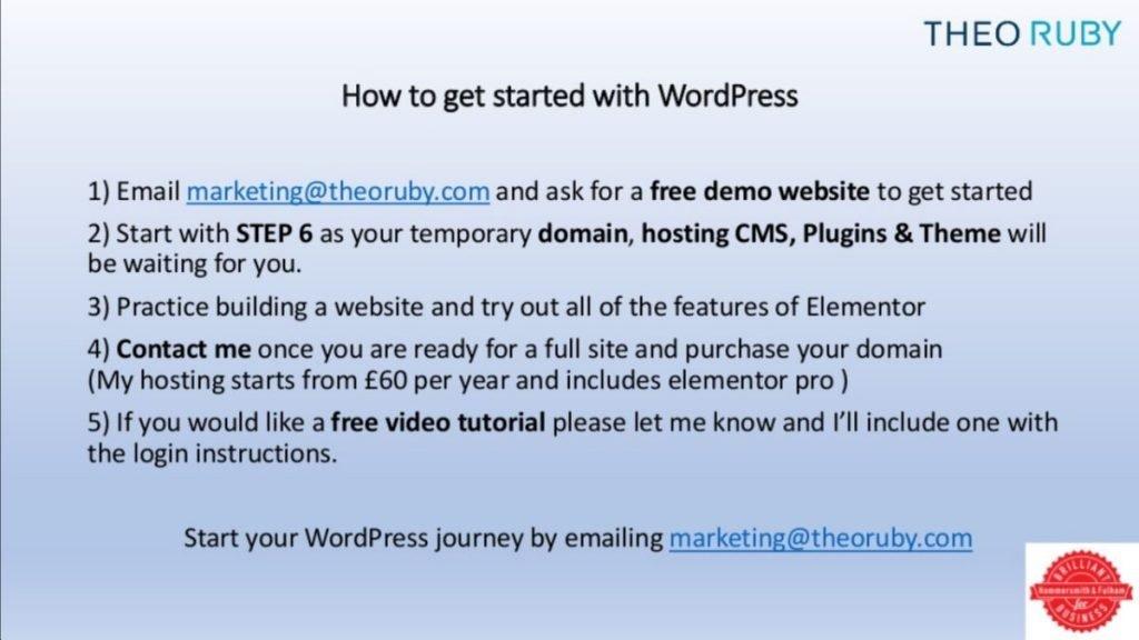 wordpress training presentation for small business