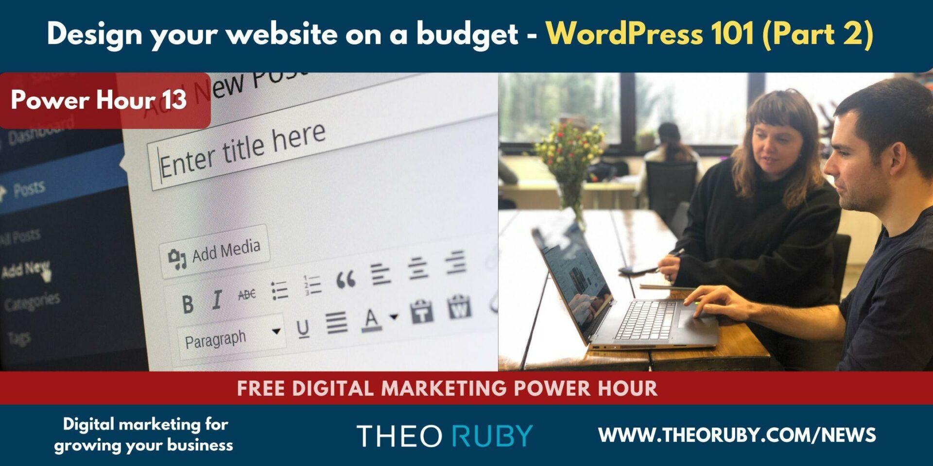 Understanding WordPress & Optimising Your Website 1