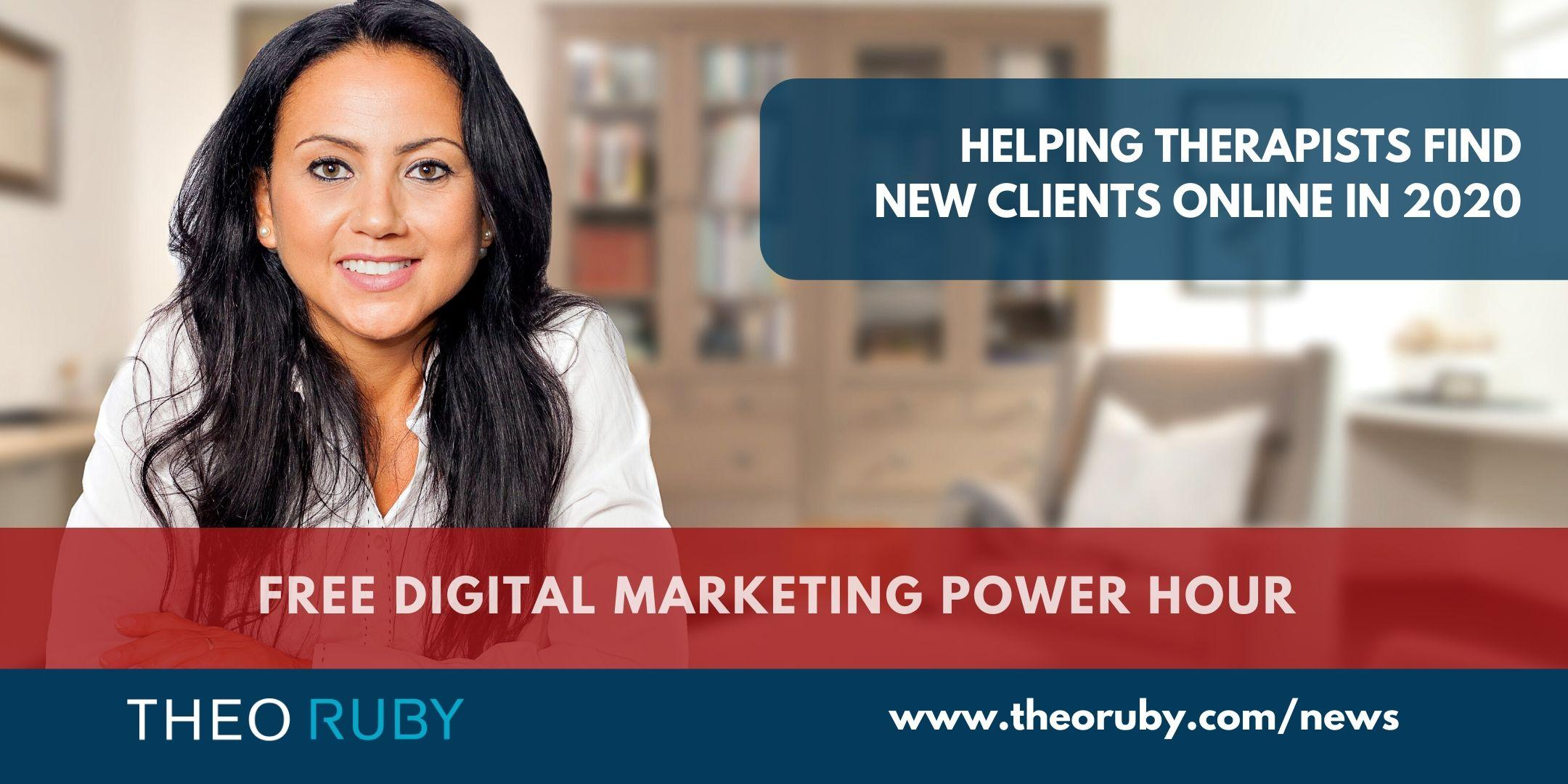 Power Hour 8 | Helping Therapists find new clients online in 2020. 1